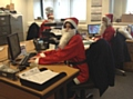 PDS Doorsets prepare for the Springhill Hospice Santa Dash or Dawdle