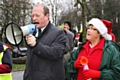 Springhill Hospice Santa Dawdle or Dash<br />MP Simon Danczuk and Pearl Benbow start the event