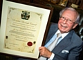 Former Heywood and Royton MP the Right Honourable Lord Joel Barnett awarded Freedom of the Borough of Rochdale