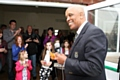 John Holder when he officially opened the new building at Thornham Cricket Club