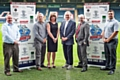 The executive board at Rochdale Hornets: Chairman Mark Wynn, Development Director Niel Wood, Finance Director Julie Bowmer, Club President Paul Ormerod, Marketing, PR & Matchday Experience Director Martin Ballard and Chief Executive Ryan Bradley