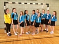 Siddal Moor U13s girls handball team at the  School Games