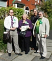 David and Alison Williams with Green Party members