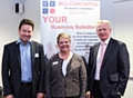 Speakers: Sue Tonks (centre) Bernard Pearce (right) with Paul Dixon of Molesworths (left)