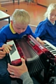 An accordion donated to Newlands School in Middleton
