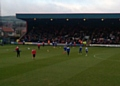 Rochdale and Nottingham Forest players warm up