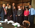 Solicitors from Hartley Thomas & Wright, Temperley Taylor  and JBHS Solicitors with Nosheen Bukhari, a dementia champion