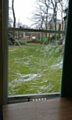 Hare Hill House window damage
