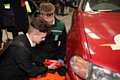 A student at the Fix Auto pit-stop challenge at the Rochdale Skills Event