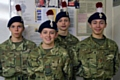 Cadet Braidy McCormick, Cadet Jake Ankers, LCpl Tyler Gregory and LCp Tyler Gibson