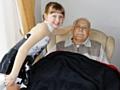 Anya Ferguson with her grandad, Colin