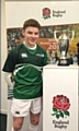Jonni Allen who represented Oulder Hill at the RFU All Schools shirt unveiling at Twickenham