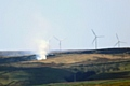 Moorland fire on Rooley Moor