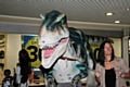 9ft lifelike T-Rex at the Wheatsheaf Shopping Centre