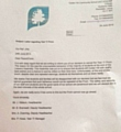 Letter sent to parents by Oulder Hill Community School