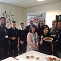 Year 10 students at Brownhill Learning Community with chef Afruj Chowdhury, Stella Oldham, Brownhill Learning Community, Ben Ingham, Safeguard Group Education and Community Lead