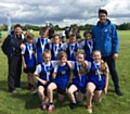 Smithy Bridge Primary School Rounder�s Team with their silver medals