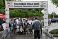 Walkers set off on Rugby League Founder's walk