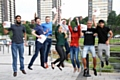 Rochdale Sixth Form College students 'jump for joy' after collecting their results