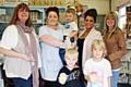 Andrea Hilton, Rebecca Hilton, Bailey Howe, Laura-Kate Howe, Gemma Greenwood, Joshua Slater and Isabelle Slater