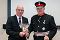 Holroyd Precision Chief Executive Officer, Dr Tony Bannan, receives the Queen�s Award for Enterprise from Warren J Smith Esq. JP, HM Lord-Lieutenant of Greater Manchester