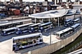 Buses at Rochdale Transport Interchange