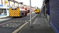 Fire engines and an ambulance at the scene of the fire at Tweedale Street