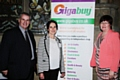 Rochdale Online Business Exhibition<br /> Councillor Richard Farnell and Councillor Janet Emsley (right) with Pauline Journeaux (MD of Rochdale Online and Gigabuy)