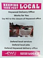 Campaign poster - save Heywood post delivery office