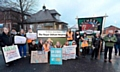 Picket line - junior doctors and supporters outside the Royal Oldham Hospital during a previous day of action