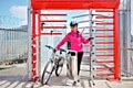 A cyclist turnstile funded with help from a TfGM Travel Choices sustainable travel grant