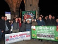 Protesters at Rochdale Town Hall