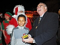 Cayden Blake ready to switch on Littleborough Christmas lights  with Mayor Ray Dutton