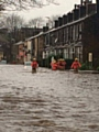 Flooding on Todmorden Road on Boxing Day 2015