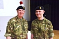 Colonel Mike Glover, commandant of Greater Manchester Army Cadet Force, with Lieutenant Dave Hewitt, a Cadet Force adult volunteer