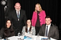 Hopwood Hall College Principal Derek O'Toole and Liz McInnes MP with students