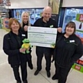 Springhill�s mascot �Springy�, Julie Nield, Natalie Burns, store manager Paul Hart and team manager Diane Watling