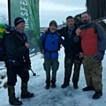 Kevin Hughes, Peter Clare, Mick Halkyard and Terence Loveridge, on The Fan Dance. Brecon Beacons