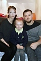 Kirsty Morris, five-year-old Tia, and partner Andrew