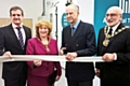 Dr Nick Ash, CEO of Source BioScience, Mayoress Cecile Biant, Sir Ranulph Fiennes and Mayor Surinder Biant