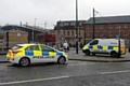 Police attending the incident in Rochdale town centre