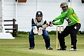 The charity match between Norden CC and Saddleworth CC gets under way