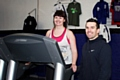 Kirsty Rigg starts her program with personal trainer Andy Lavery at the Full Contact Performance Centre
