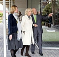 Maggie�s chief executive Laura Lee, HRH The Duchess of Cornwall and Lord Foster
