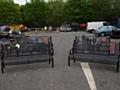 The four specially made memorial benches for Heywood War Memorial Gardens