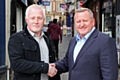 Howard Wilkinson, who set up Rochdale Flood Support, with Mark Foxley of Rochdale Town Centre Management
