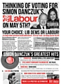 Lib Dem election leaflet seeking to associate Labour candidates with disgraced Rochdale MP Simon Danczuk