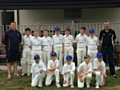 GMCL Under 12s Interleague Team: Gareth Williams, coach, Harry Singh, Evan Williams (captain), Alex Old, Jonny Litler, Dan Stevens, Callum Hunter, Joe Hornsby, John Stevens, coach and manager