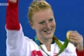 Nicola White shows her Olympic gold medal