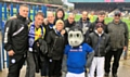 Members from the football sessions attended Rochdale v Rotherham United at the Crown Oil Arena